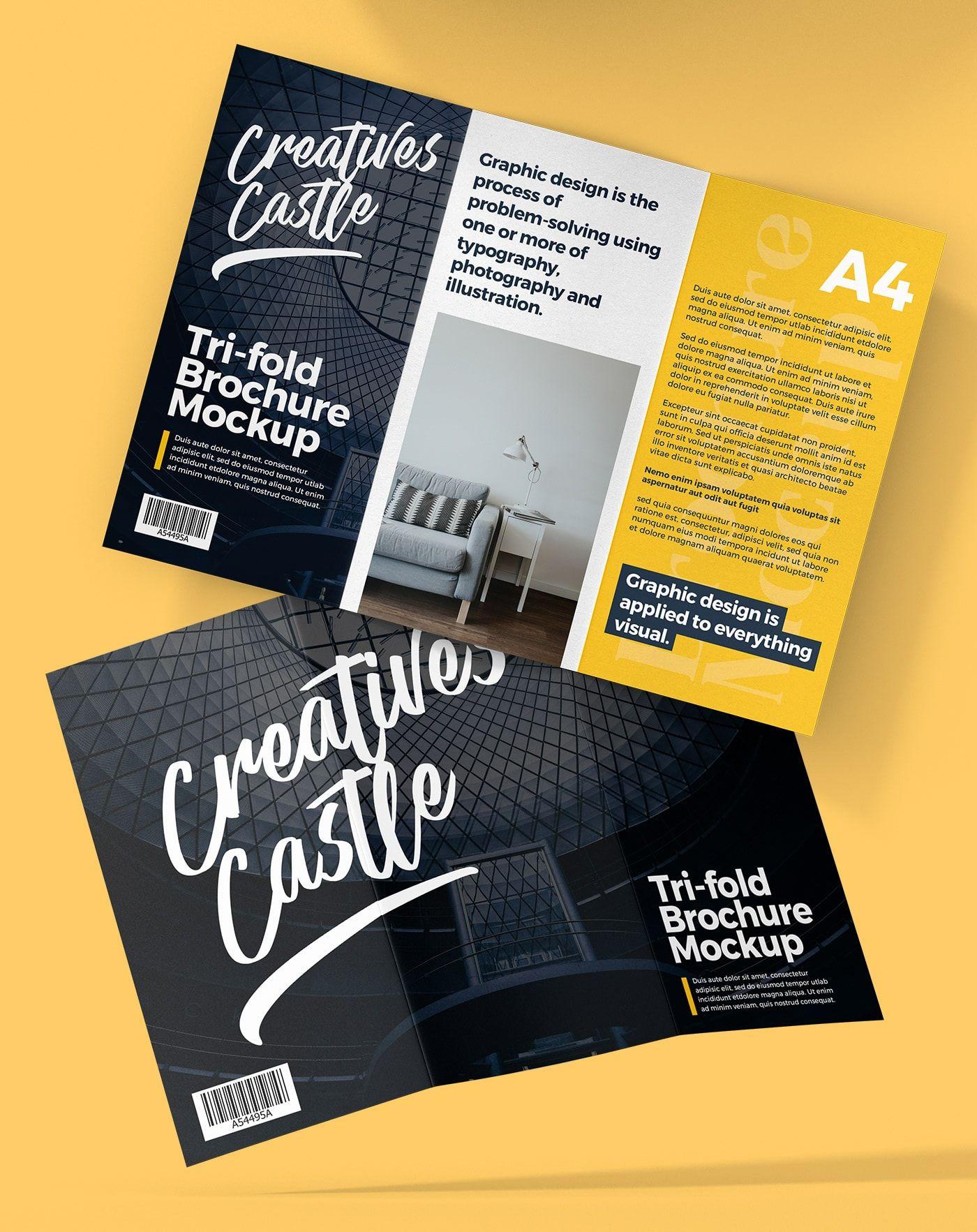 A4 Tri Fold Brochure Mockup Free Psd Mockups Pixelsdesign Net Brochure Mockup Free Brochure Mockup Psd Free Trifold Brochure