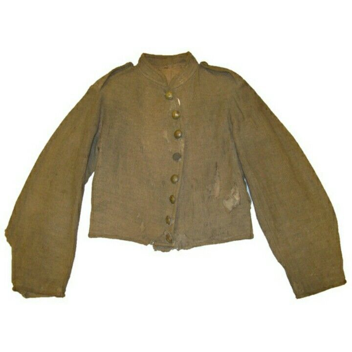 Abraham Adler, Company E, 21st Mississippi Infantry, wore this Richmond jacket at the battle of Chickamauga. Although it has faded to tan from a gray color, its butternut shade would have been acceptable uniform color to Confederate quartermasters. Artifact courtesy of the Louisiana State Museum, New Orleans, Louisiana.