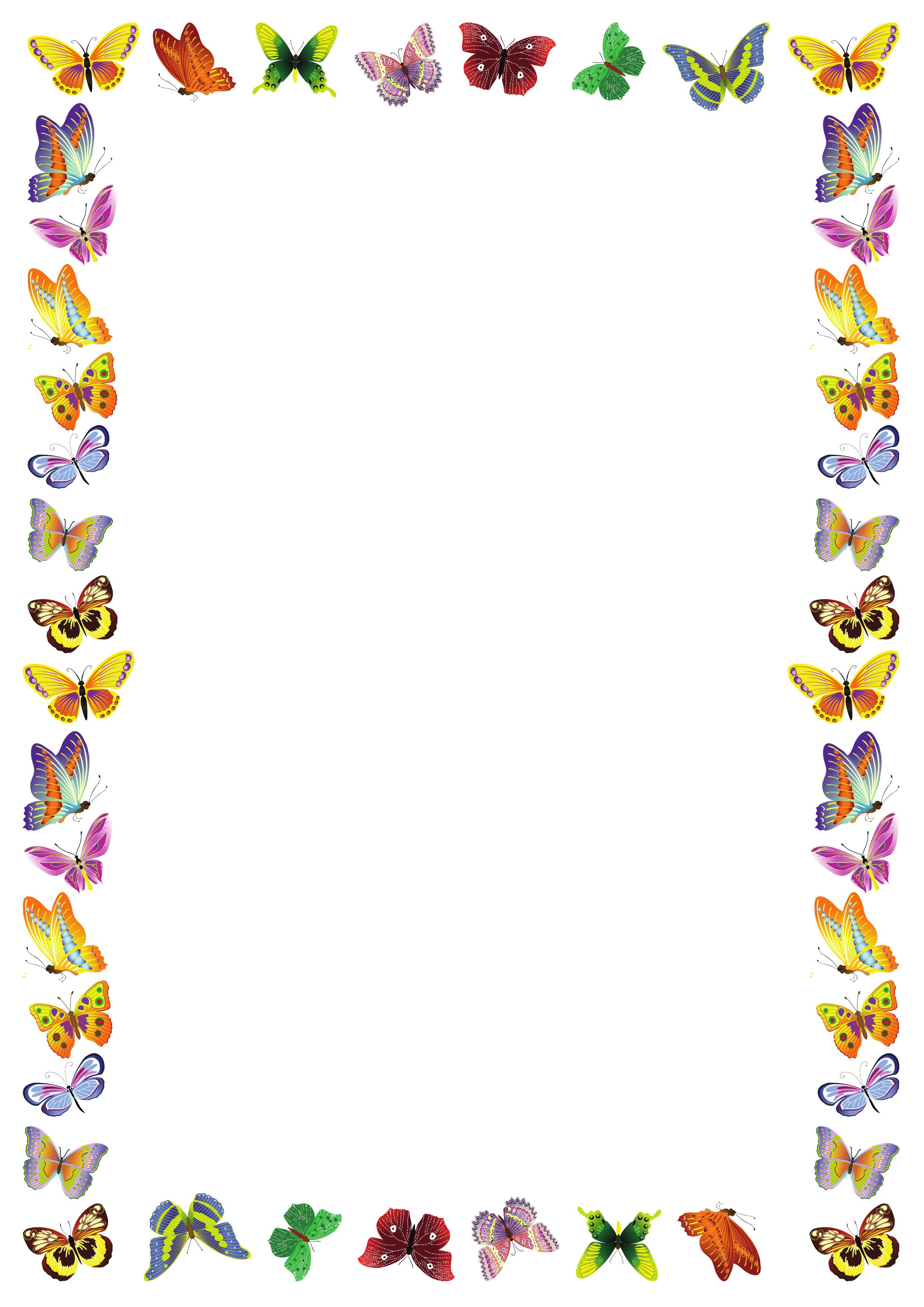 Ramka-dliya-teksta-babochki.jpg (2480×3508) | Рамки ...