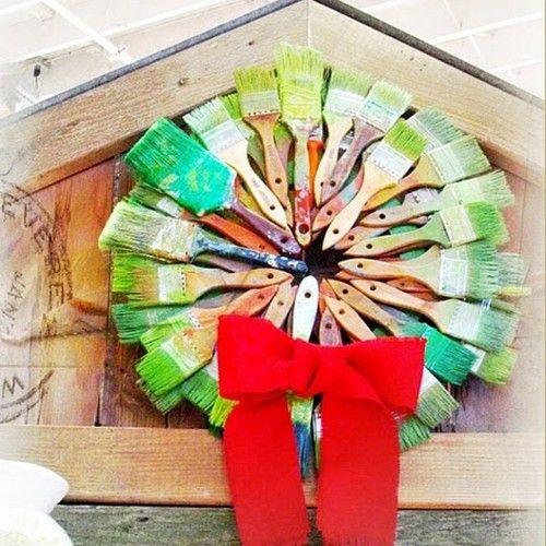 paint brush wreath via huffingtonpost on tumblr