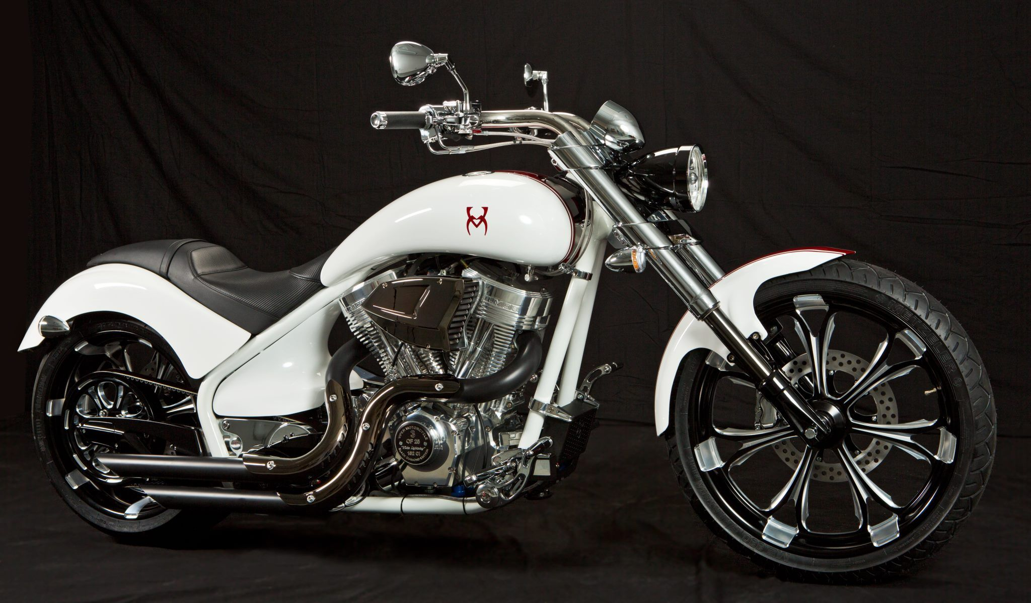 Viper Motorcycle Black Diamond edition. White Lightning!