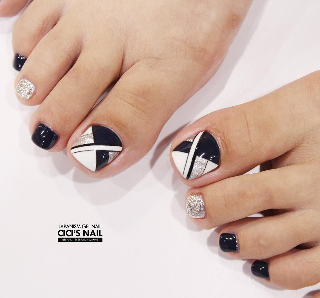pelikh_ pedicure idea | unas | Pinterest | Pedicura, Diseños de uñas ...