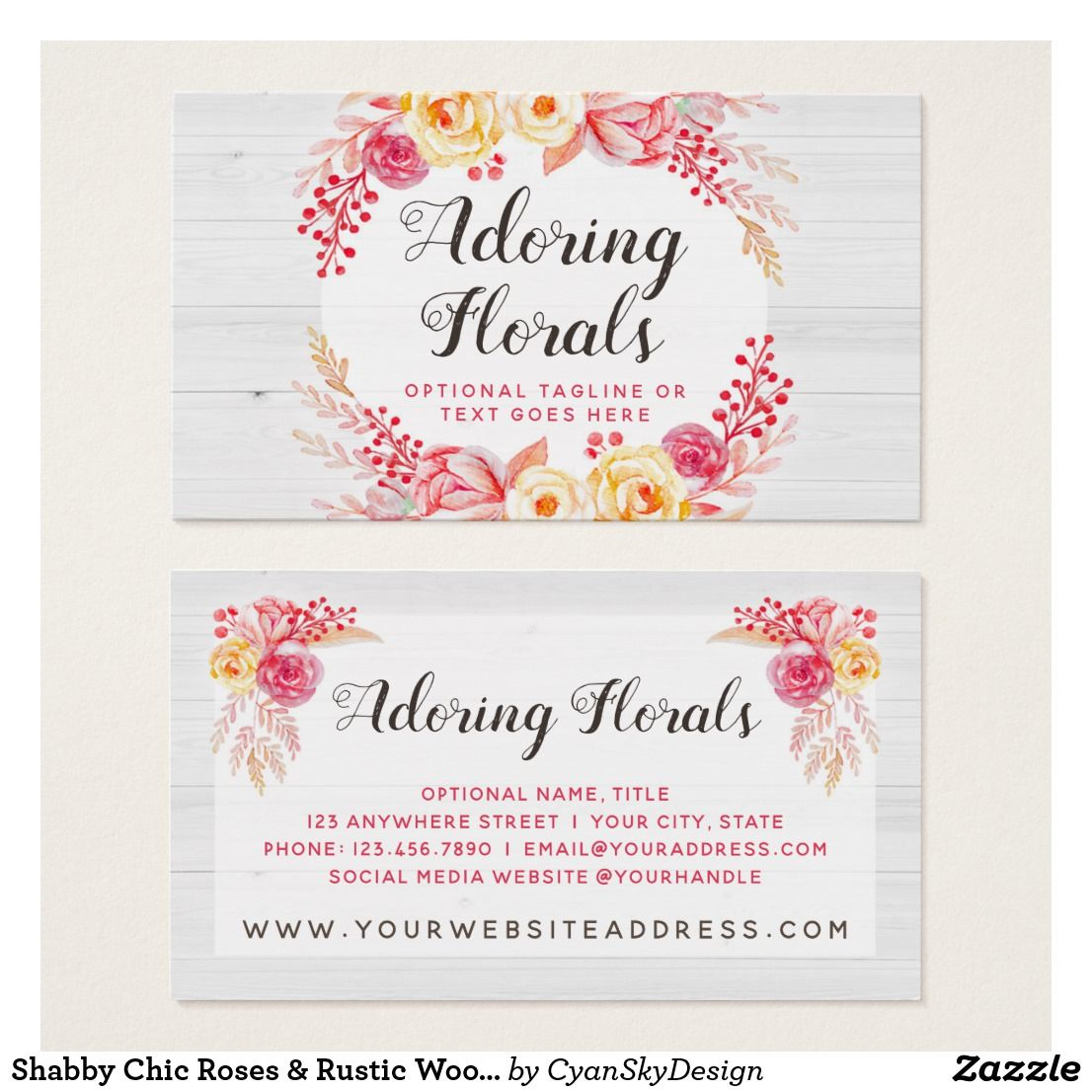 Shabby chic roses rustic wood blush pink floral business card shabby chic roses rustic wood blush pink floral business card reheart Image collections