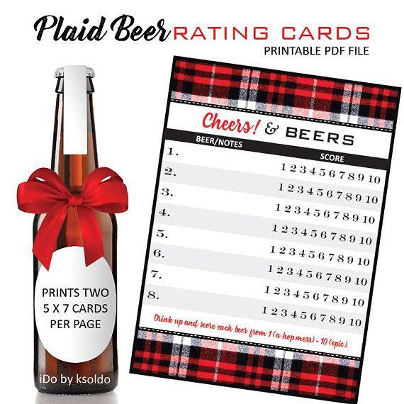Beer Tasting Beer Rating Sheet Beer Score Card Beer Bash valentine - food sign up sheet template