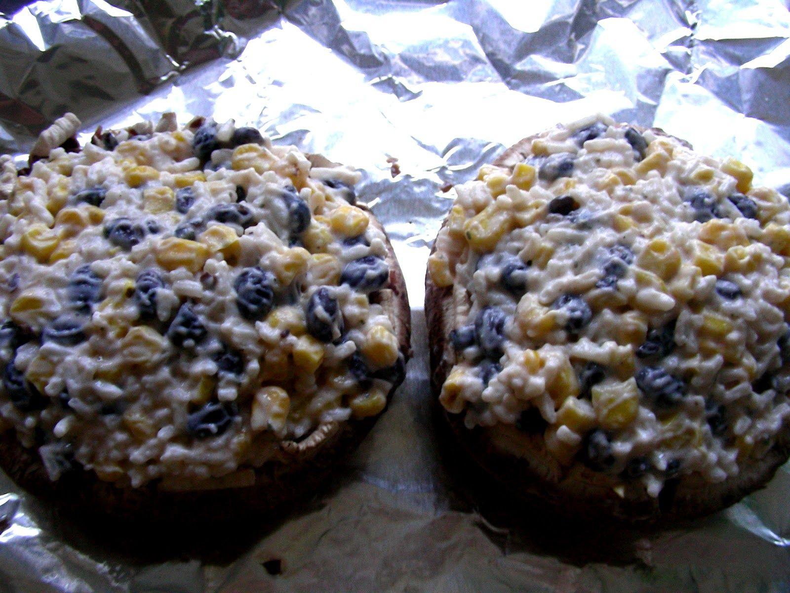 Lemon and Lace: southwestern stuffed portobello mushrooms