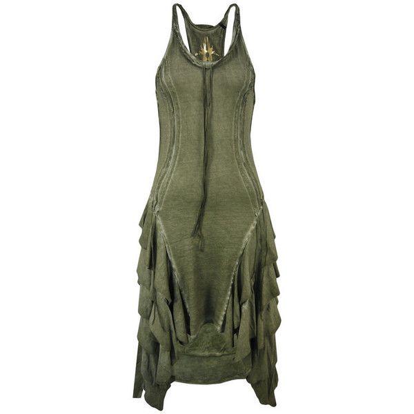 Bolongaro Trevor Vera Frill Beluga Dress. ($91) ❤ liked on Polyvore