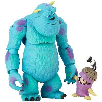 CUTE!  (Revoltech Pixar Monster 's Inc Sully Boo Articulated Action Figure from Japan)