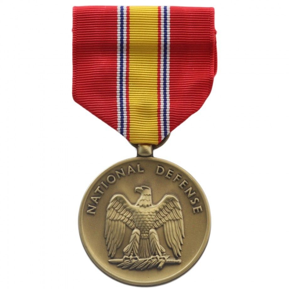 National Defense Service Medal (Red)(Metal) Embroidery