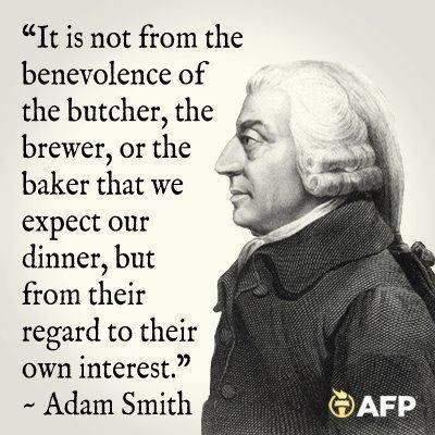 Adam Smith Quotes It Is Not From The Benevolence Of The Butcher The Brewer Or The