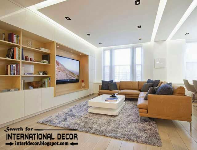 Modern Pop False Ceiling Designs Ideas 2015 Led Lighting For Extraordinary Pop False Ceiling Designs For Living Room Design Decoration
