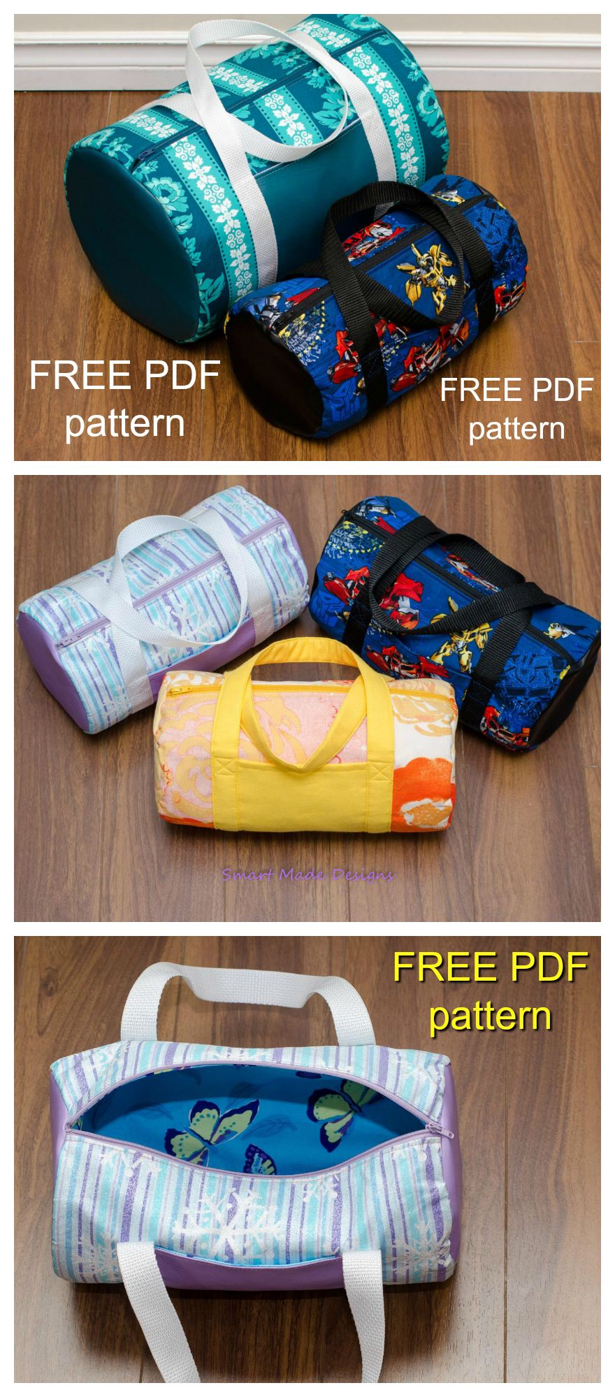 69c3d9673e FREE pdf sewing pattern for this Duffle Bag   Mini Duffle Bag.This is a very  basic and beginner friendly bag pattern. The medium sized duffle bag is  great ...