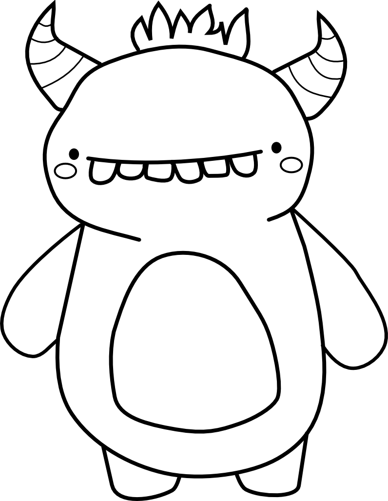 monster outline coloring pages - photo#15