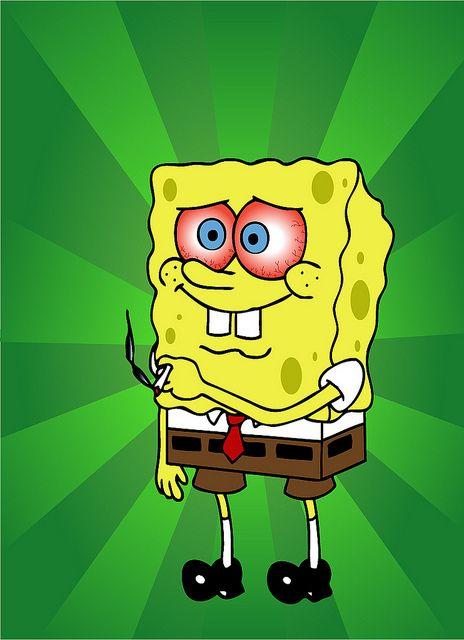 Stoned Spongebob Squarepants In 2020 Trippy Cartoon
