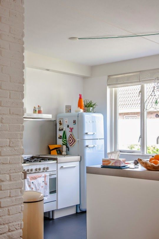 The bright and happy home of a Dutch blogger