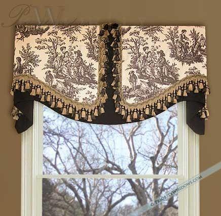 unique window treatment ideas | board mounted valance | window