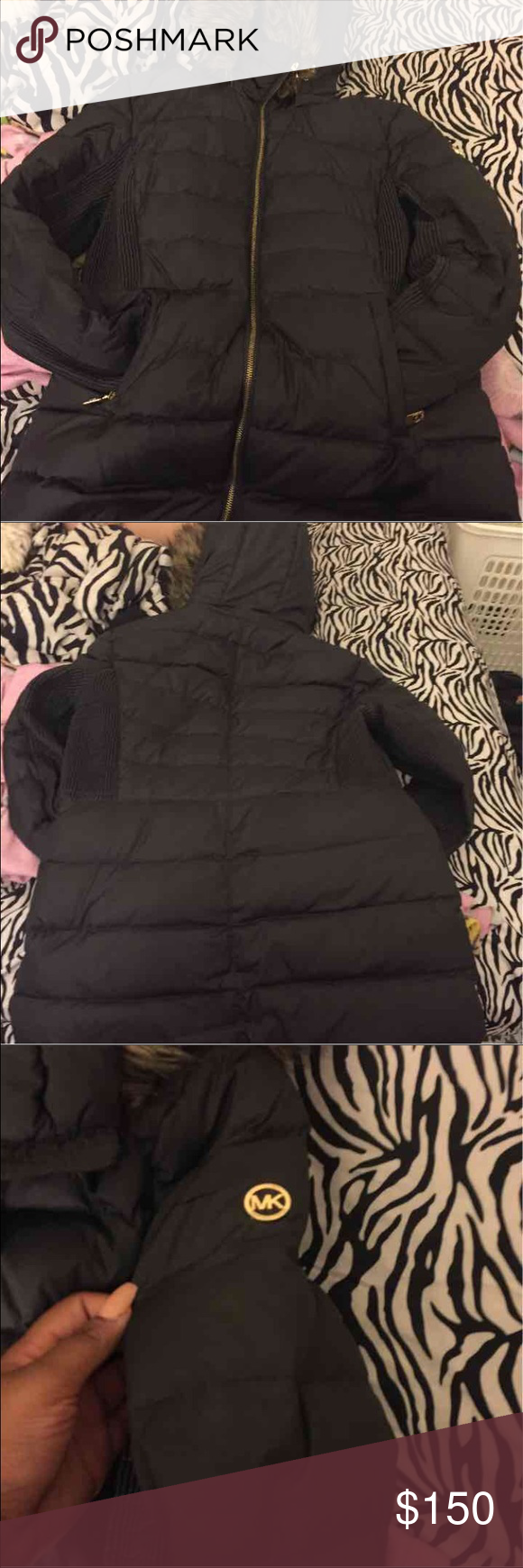 Micheal Kores Winter Coat Dark Grayish Black Michael Kors Jackets & Coats Puffers