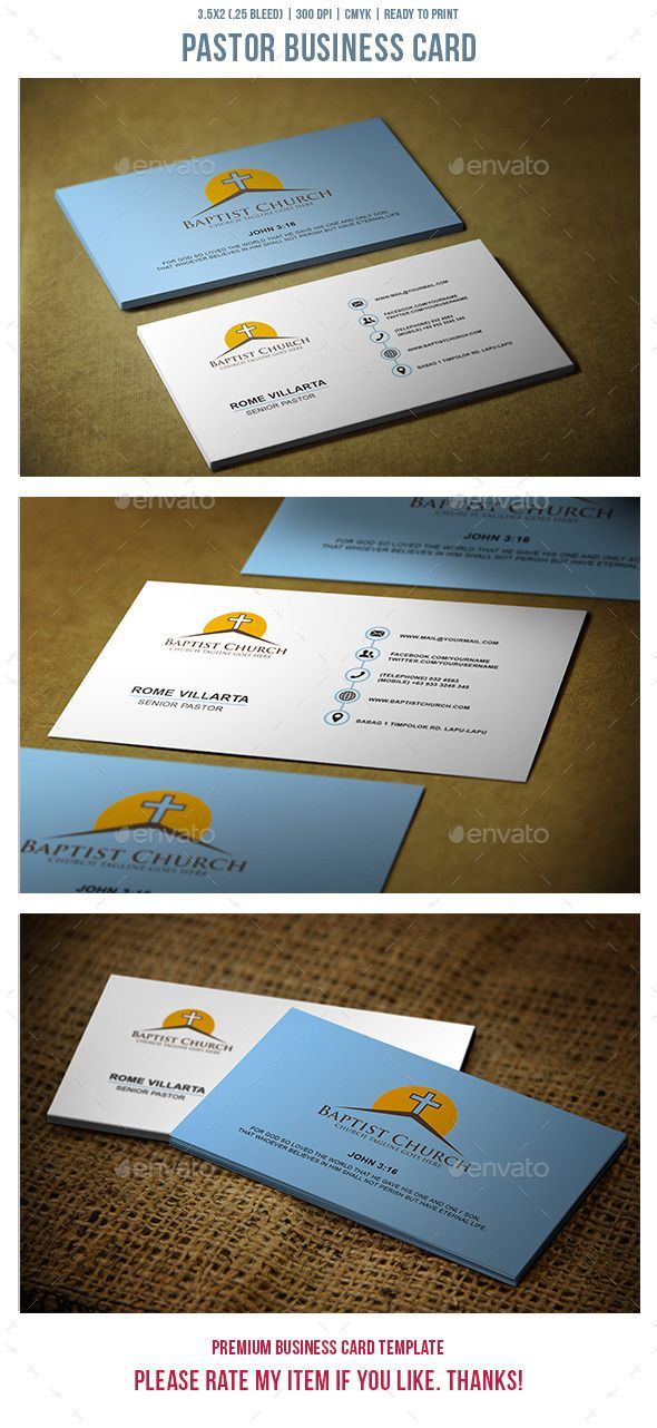 Pastor Business Card | Pastor, Business cards and Business