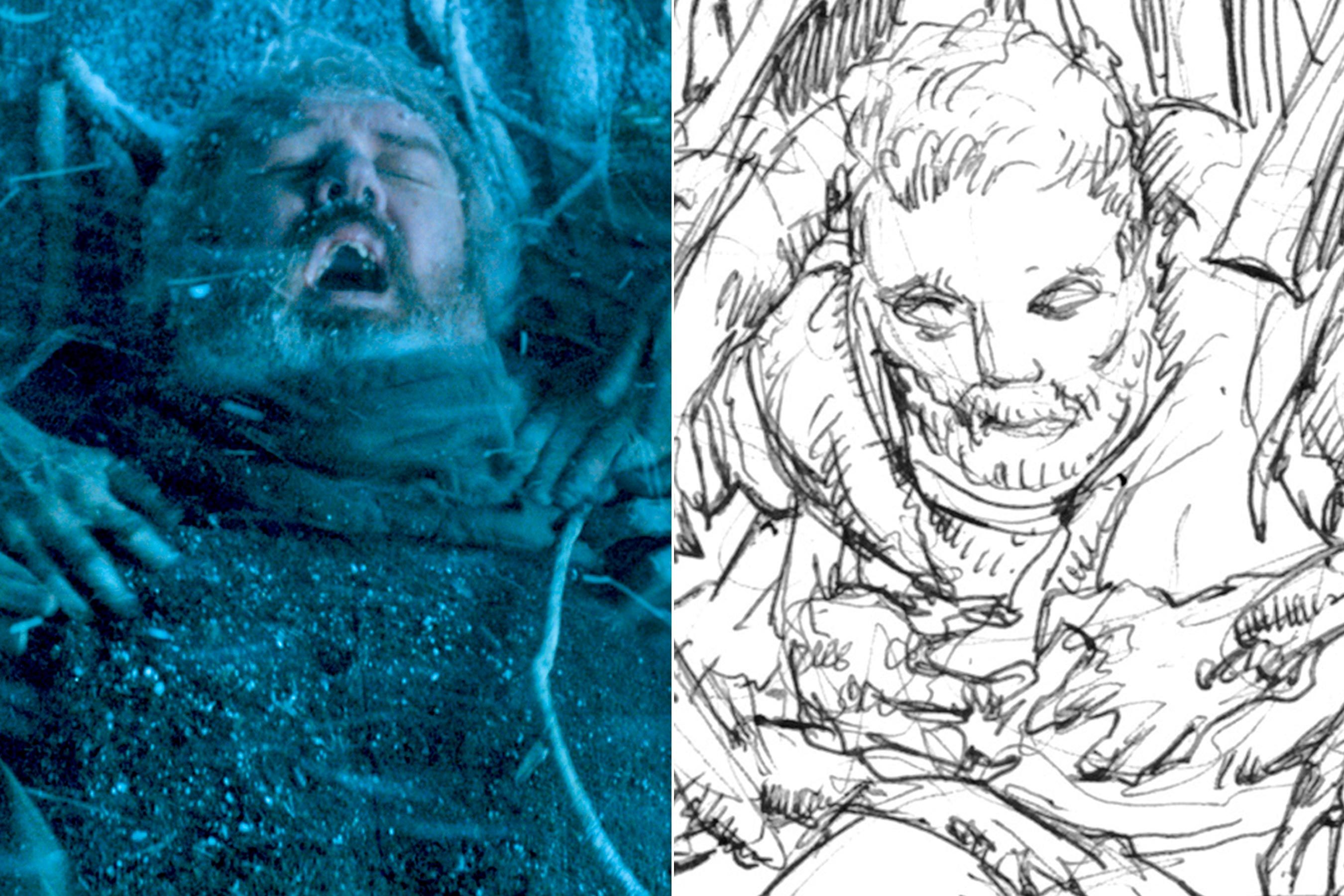 'Game of Thrones' storyboard artist breaks down Hodor's tragic 'hold the door' scene (With images) | Storyboard artist. Hbo got. Night king