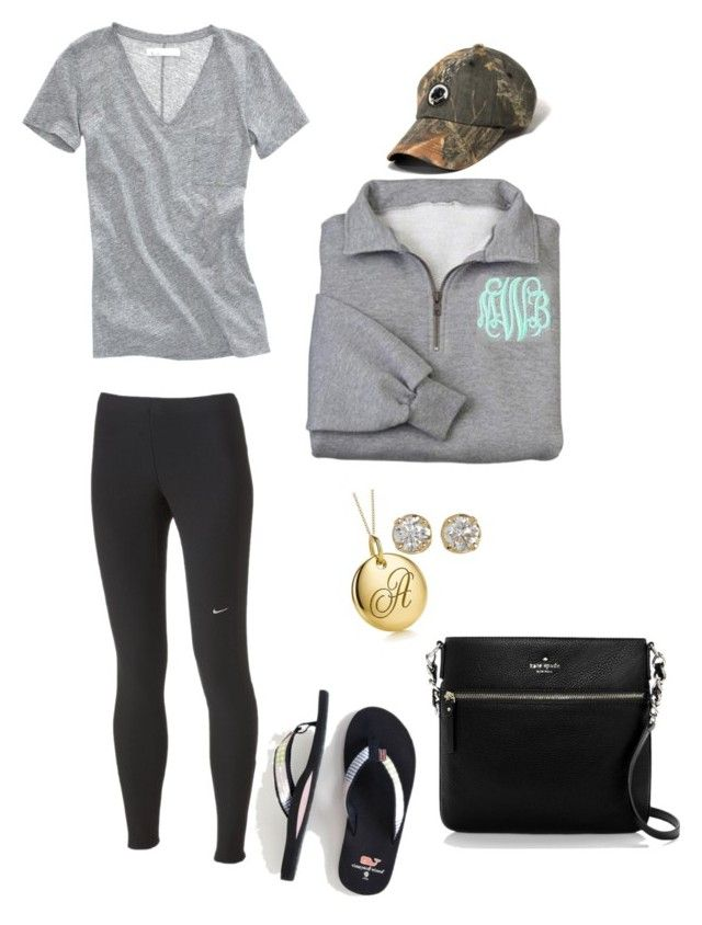 """""""OOTN 5/13/13"""" by capitalcprep ❤ liked on Polyvore featuring NIKE, Madewell, Southern Proper, Kate Spade, Tiffany & Co., Hoorsenbuhs, preppy, monogram, casual and nike"""