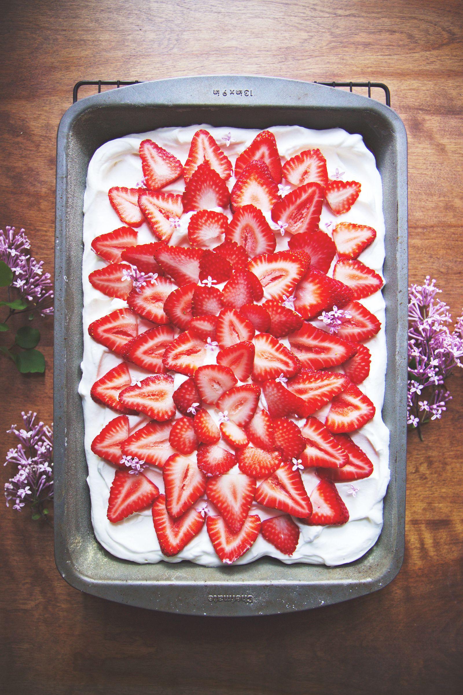 Never too late strawberry sheet cakes sheet cake
