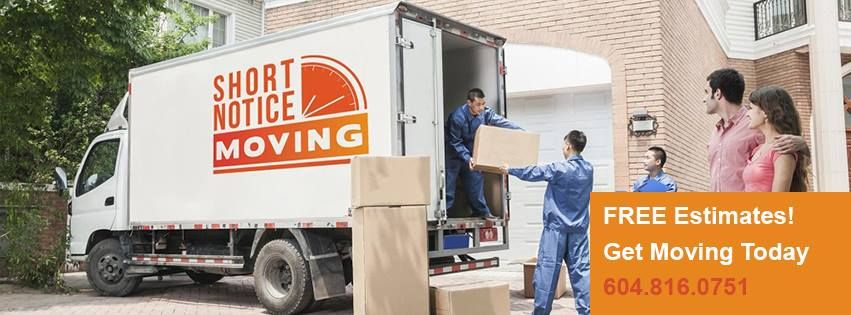 At Short Notice Moving, you get the best packing and moving