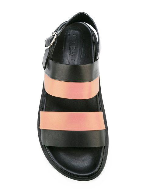 Shop Marni colour block sandals.