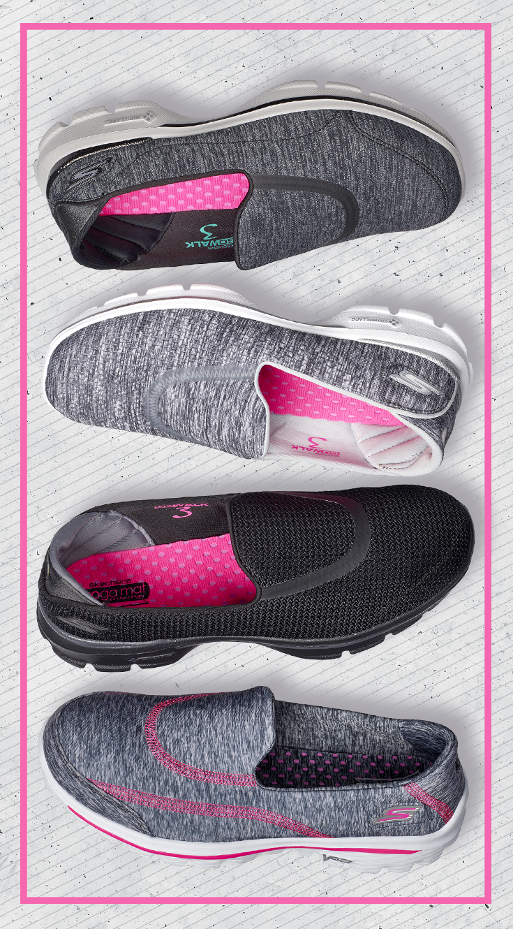Move The Way You Were Meant To In The Gowalk 3 Women S Shoe By Skechers Go Pillars Technology Offers Sketchers Shoes Women Casual Shoes Women Sketchers Shoes