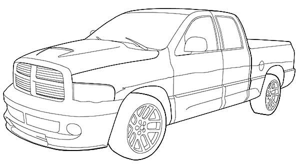 Dodge Car Ram Srt 10 Coloring Pages Coloring Sky Truck Coloring Pages Coloring Pages Cars Coloring Pages