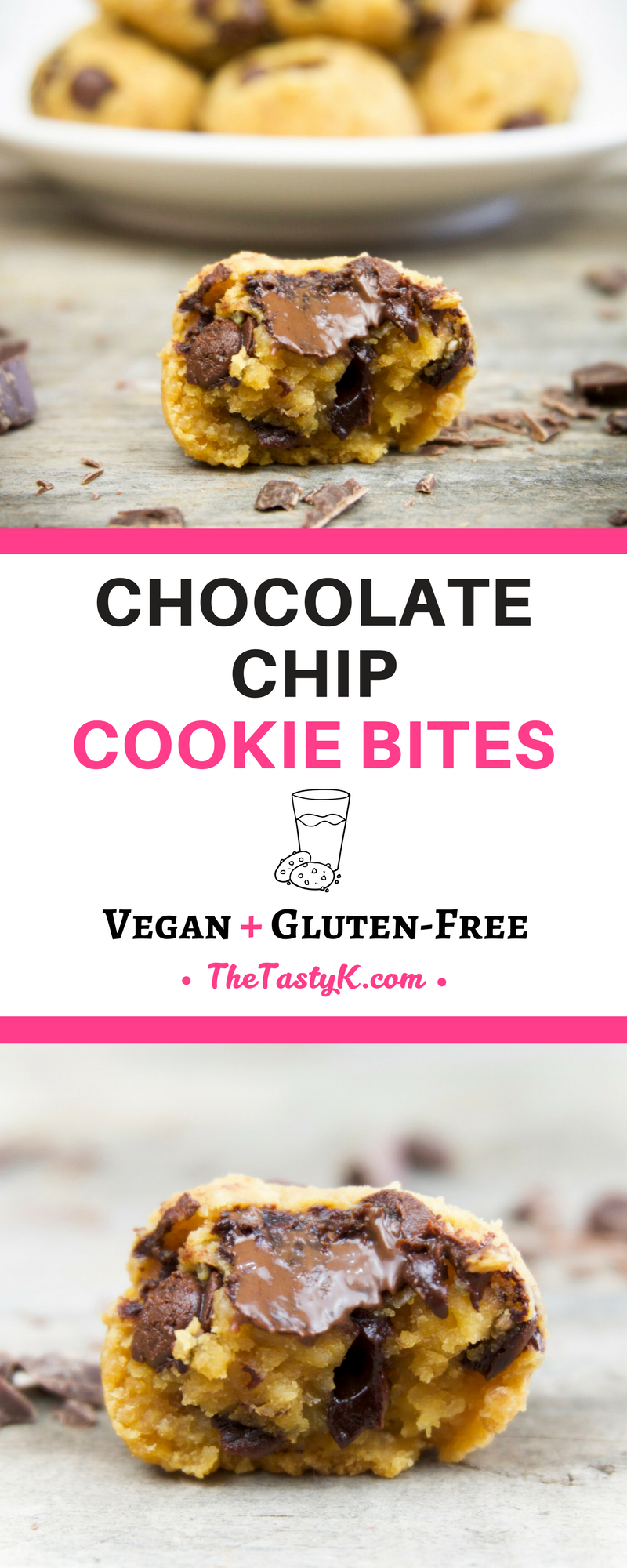 Chocolate Chip Cookie Bites The Tasty K Recipe Healthy Chocolate Chip Healthy Chocolate Vegan Cookies