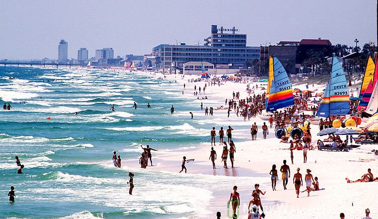 Panama City Beach Florida Near The Fontaineblue Which Was Built On Western Of After Hurricane Camille