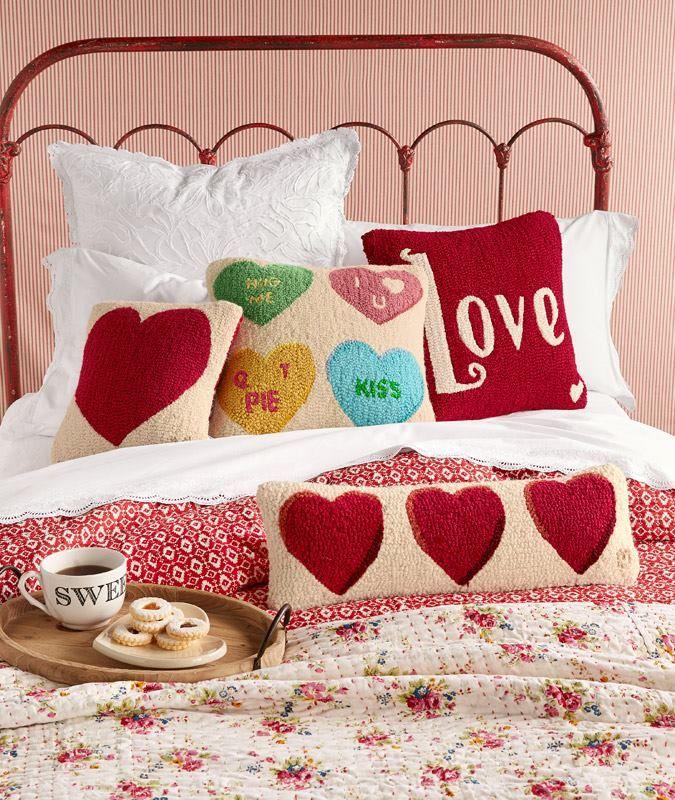 Conversation heart pillows!