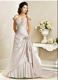 Robe de Mariée Classique A-ligne Col en coeur wd0004