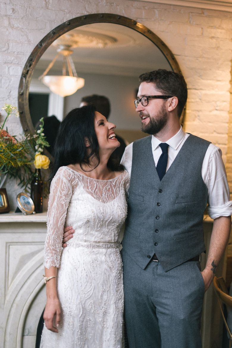 A Hip Brooklyn Restaurant Wedding in True New York Fashion