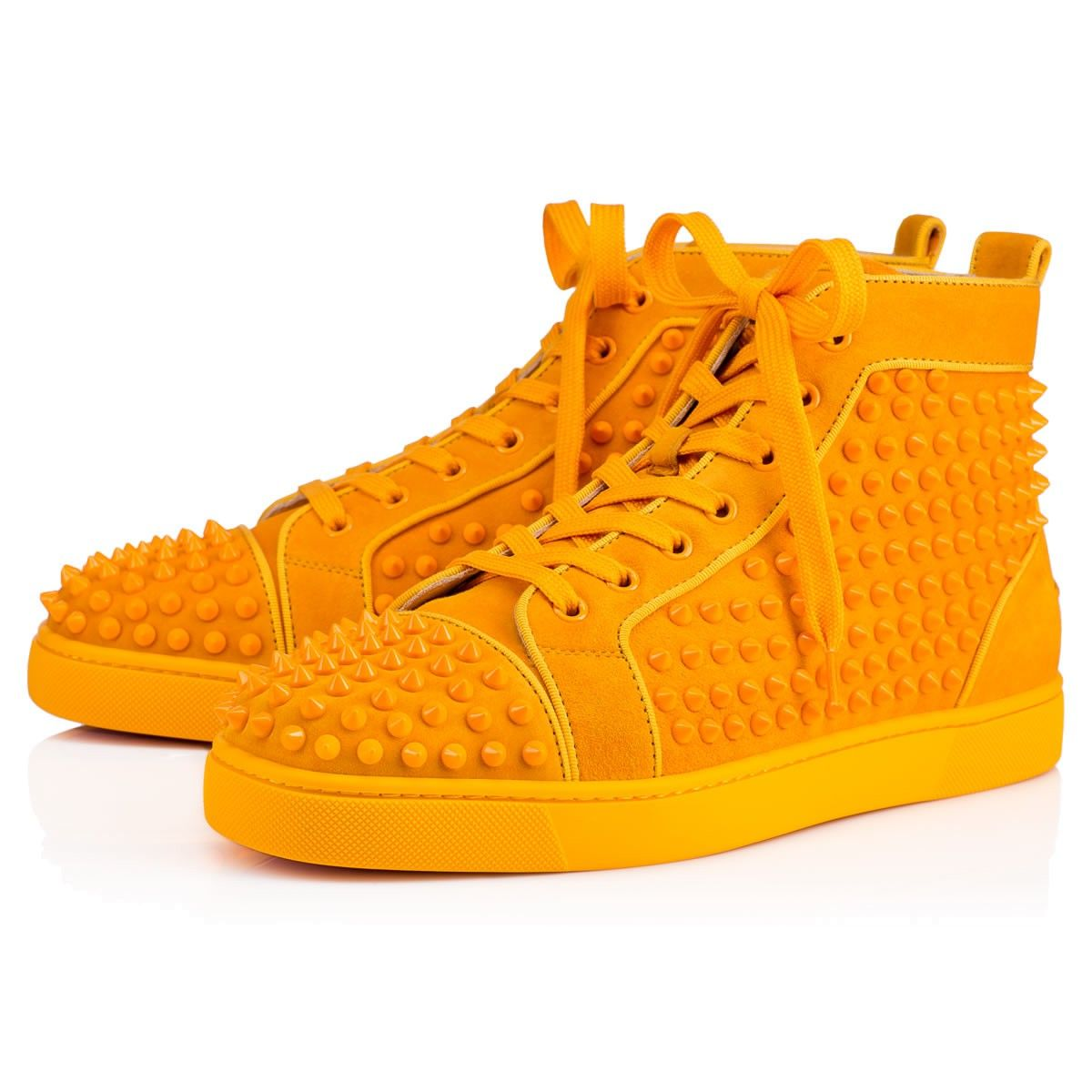 christian louboutin yellow spikes