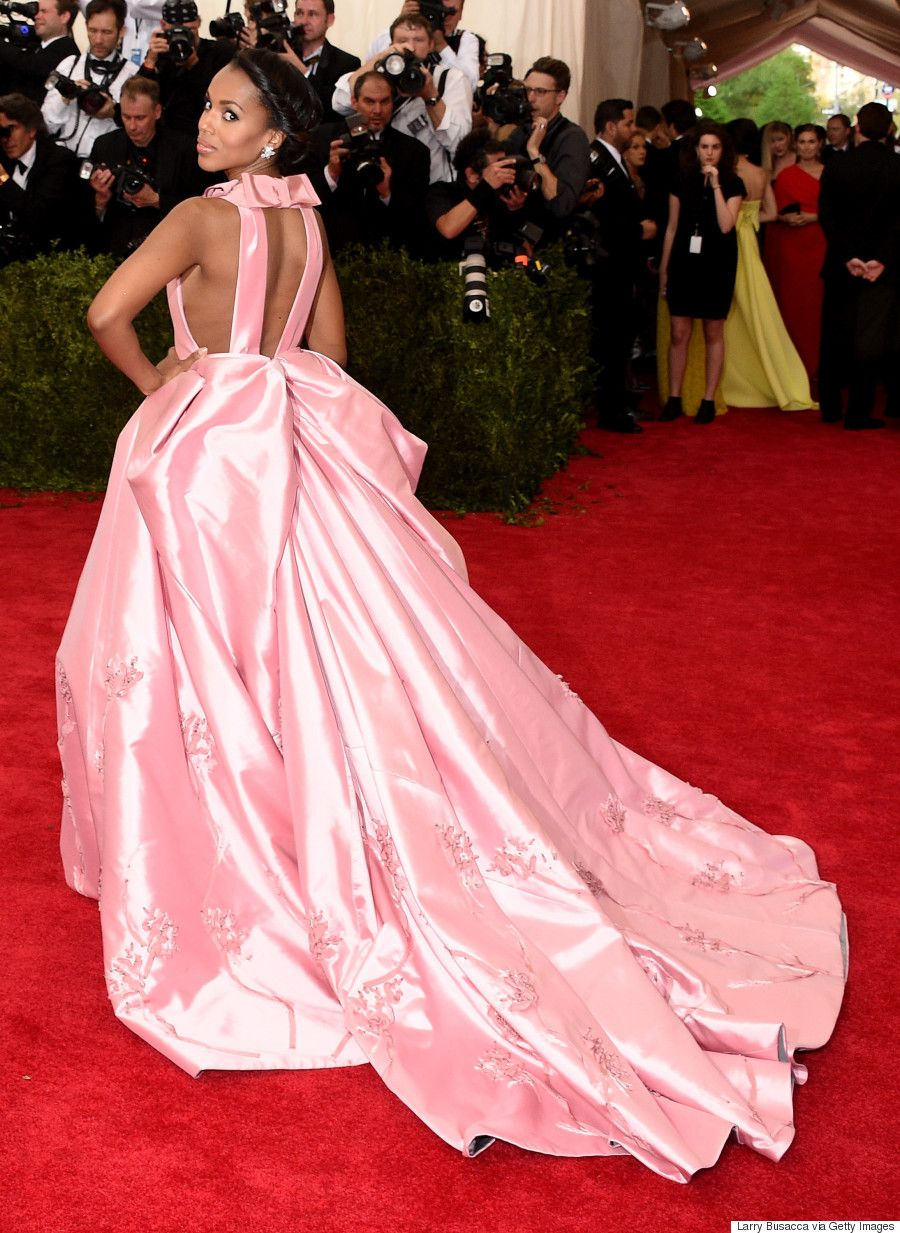 Kerry washingtonus met gala dress is fit for a princess the