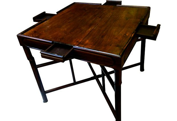 Folding Chinese Game Table On Onekingslane Com Table Games