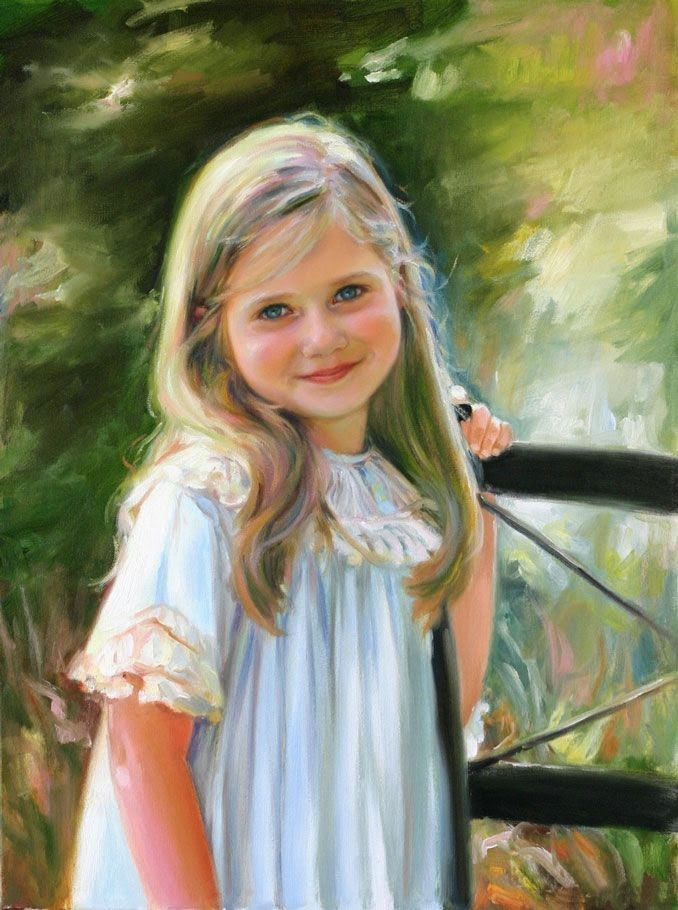 جمال النساء في لوحات فنية رائعة 2 Beautiful Paintings Women Child Portrait Painting Kids Portraits Portrait Painting