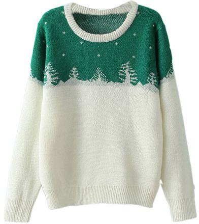 Christmas Tree Knitted Jumper  6ce32e2ec