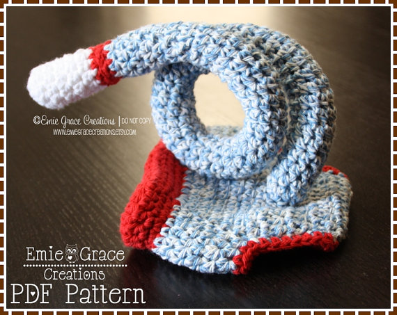 Crochet Sock Monkey Diaper Cover Pattern Curly Tail 3 Sizes