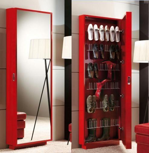 Zapatero espejo muebles pinterest zapatero espejo for Zapatero espacios pequenos