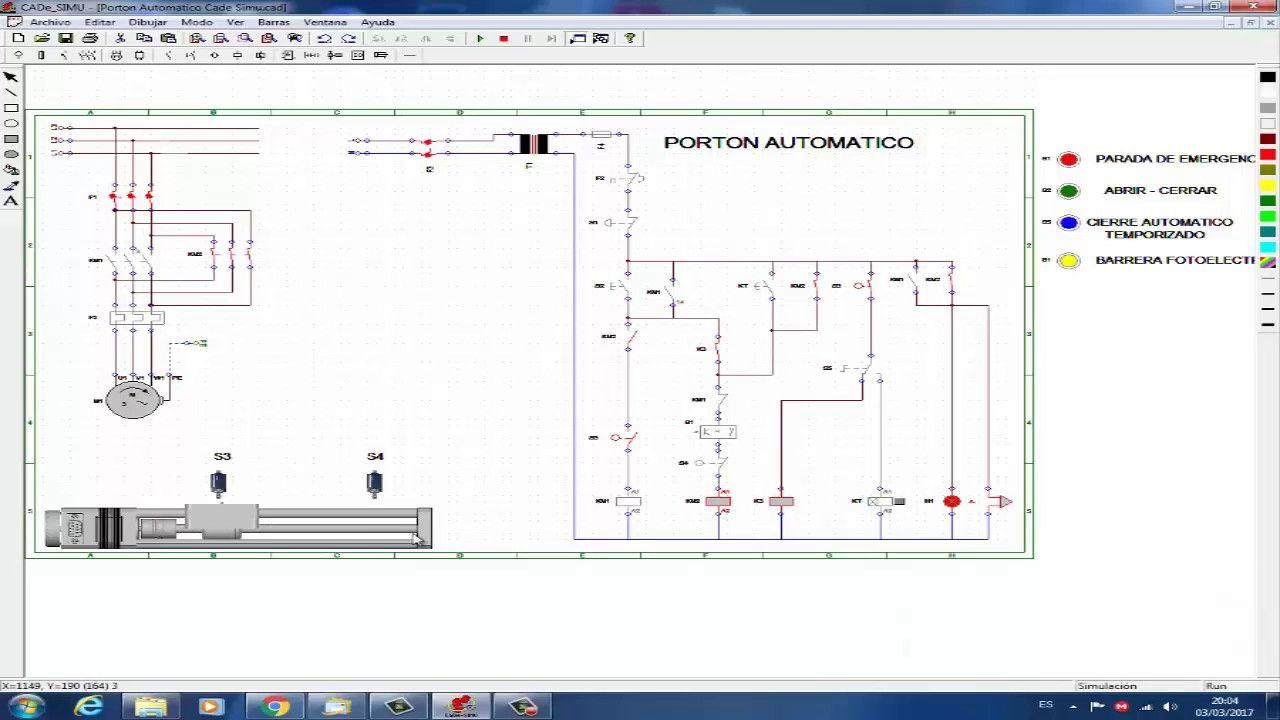 Circuito Unilineal : Porton automatico esquemas eléctricos pinterest amigos