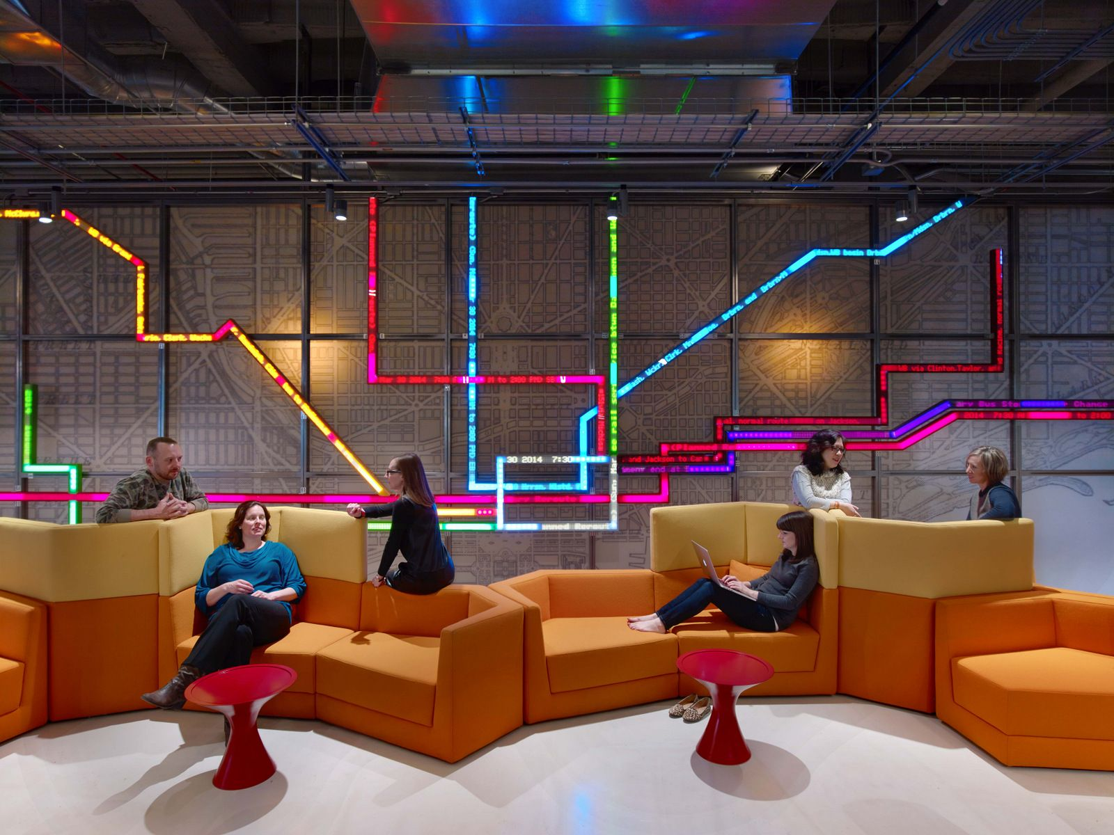 Office tour motorola mobility chicago offices - Top interior design firms chicago ...