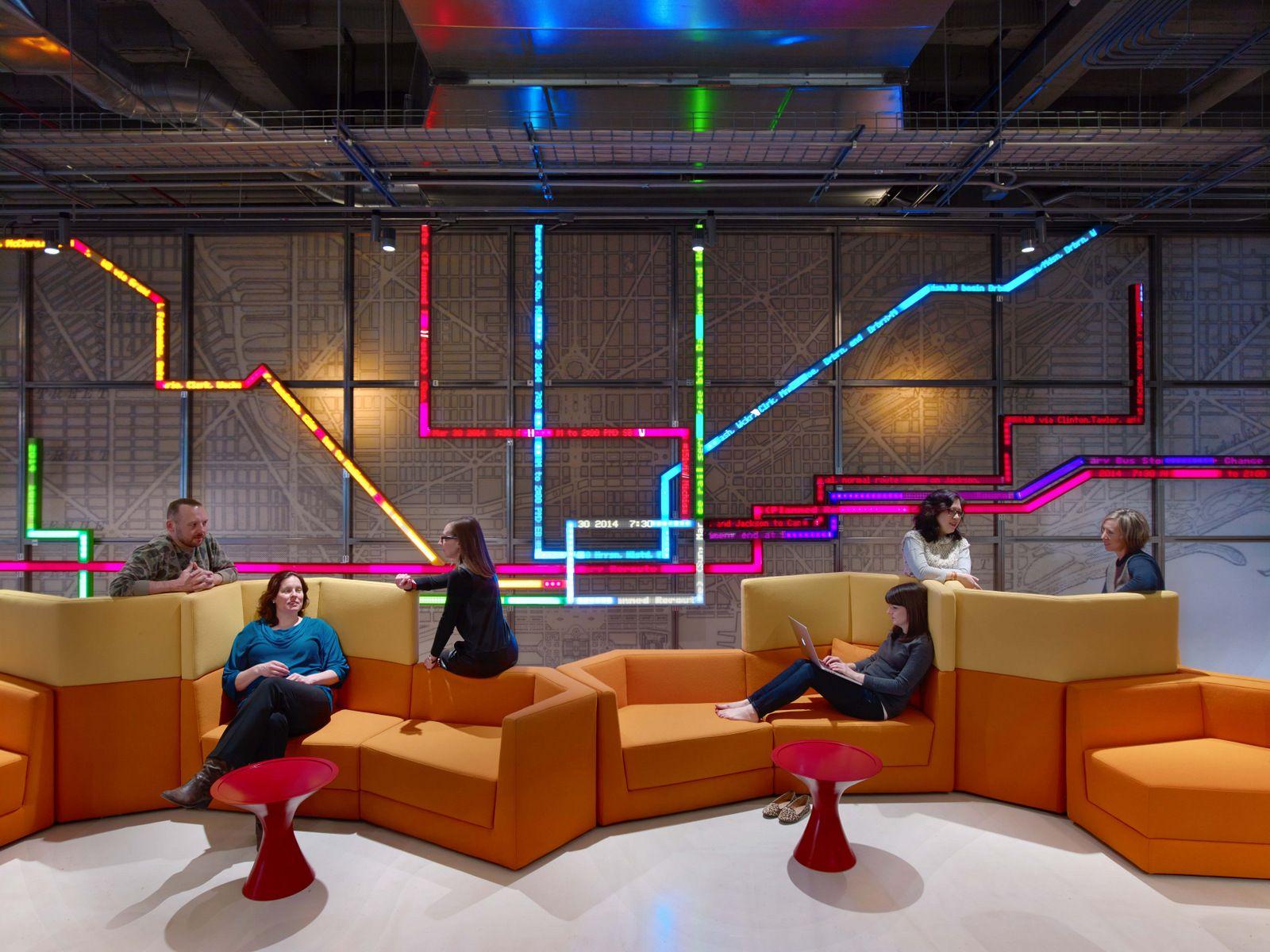 Office tour motorola mobility chicago offices - Interior design companies chicago ...