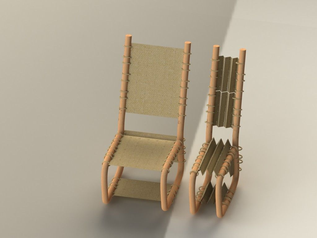 Pliable And TasbandiA Green By Built Bamboo Chair Ali designed CeodBx