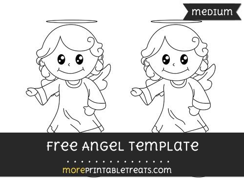Free Angel Template - Medium Shapes and Templates Printables - angels templates free