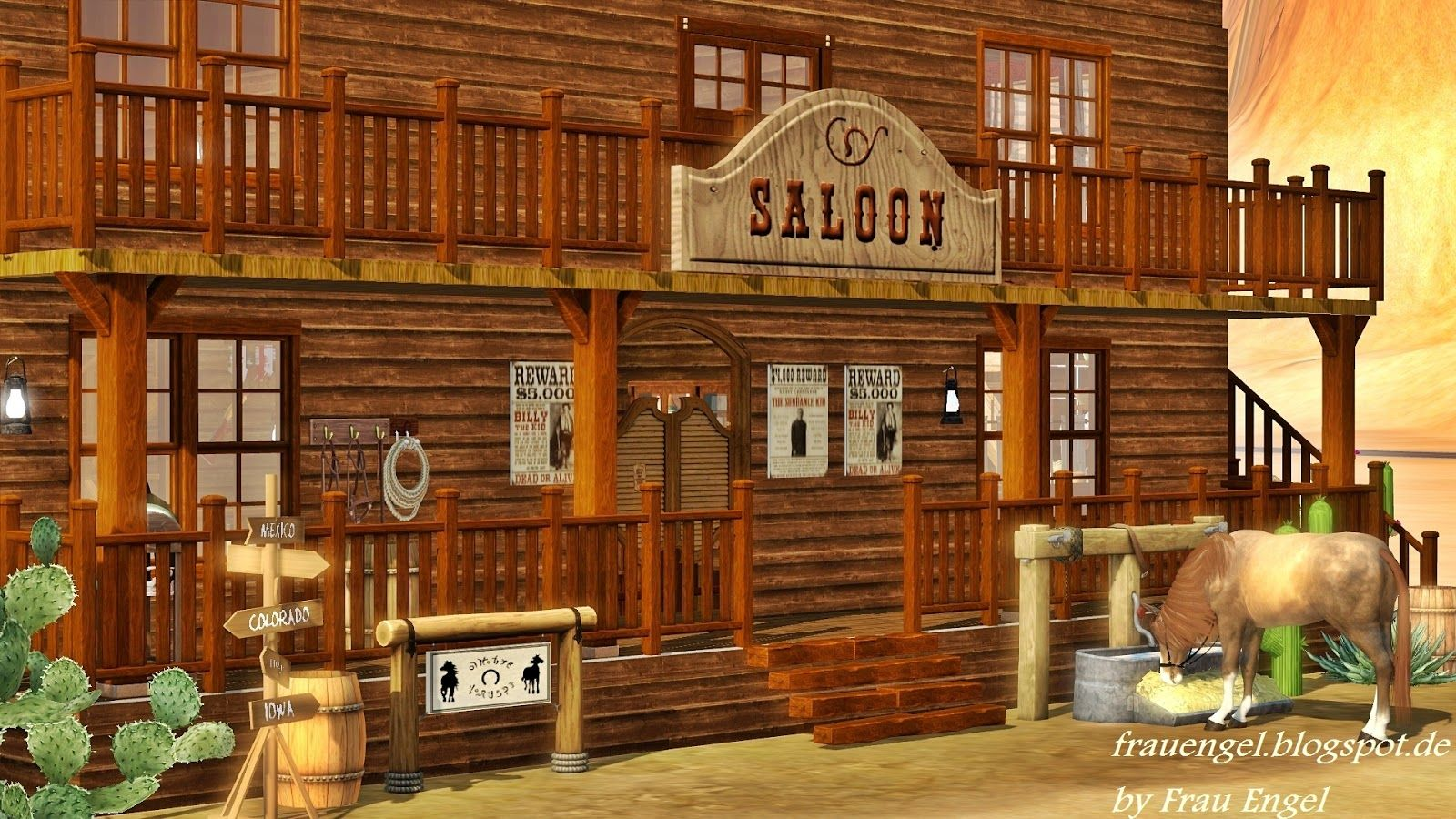 saloon entertainment world My Sims 3 Blog Saloon in the Wild