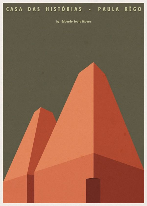 Minimalist Architecture Posters By Andre Chiote - casa das historias