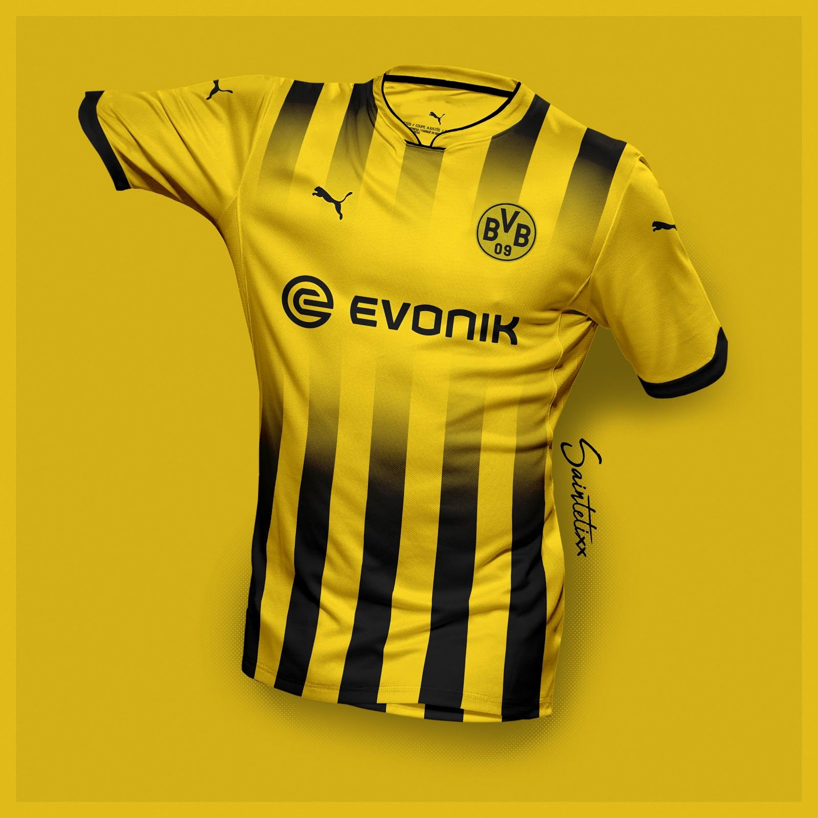 e23439c5a79 Incredible Puma Borussia Dortmund 19-20 Home, Away & Third Concept Kits by  Saintetixx - Footy Headlines