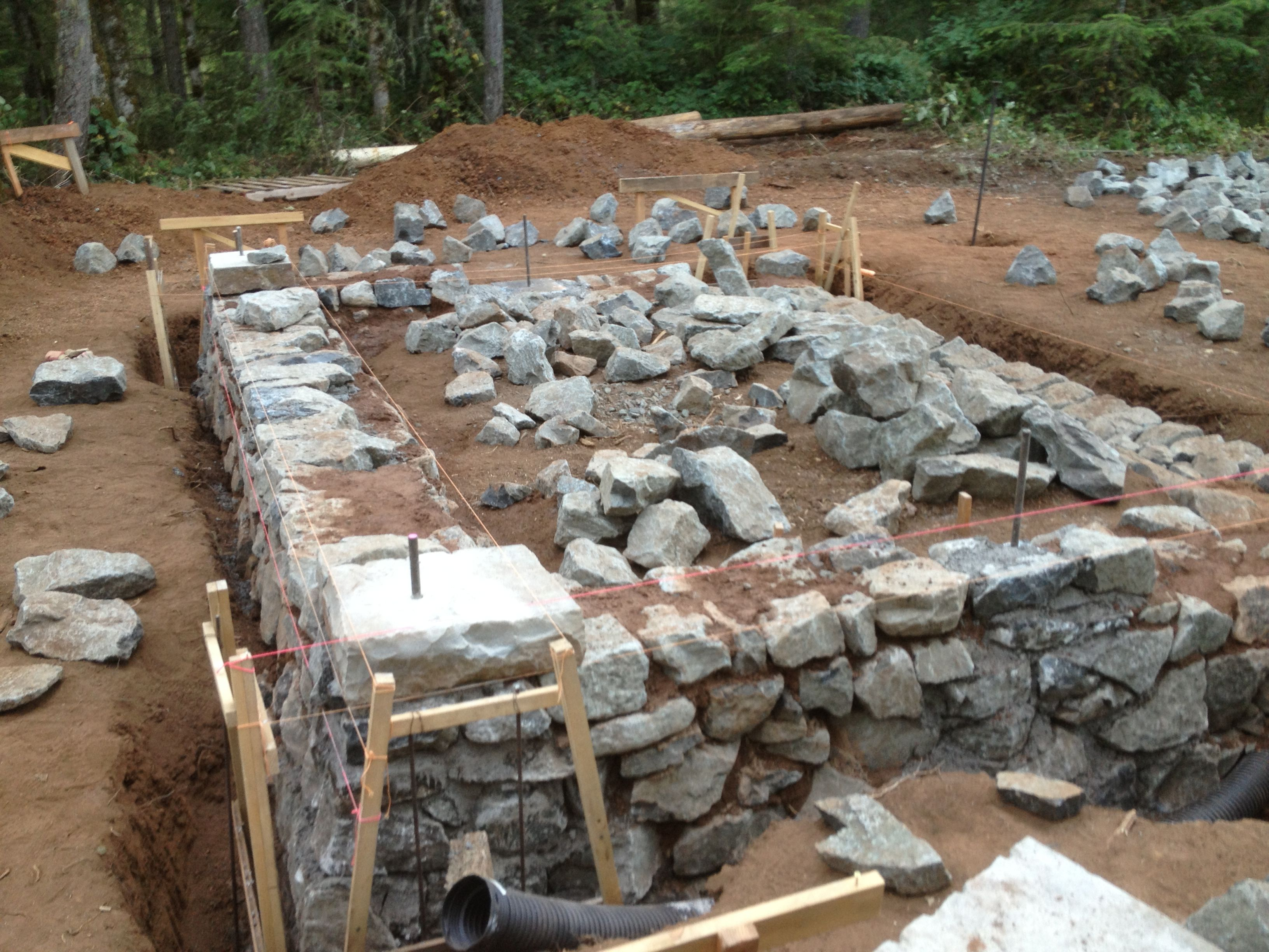 Attractive Foundation For Homes #9: Alternative Building Methods Are A Great Way For The DIYu0027er Out There To  Live In A Low Cost And Energy Efficient Home. A Diy Stone Foundation Works  Well Wit