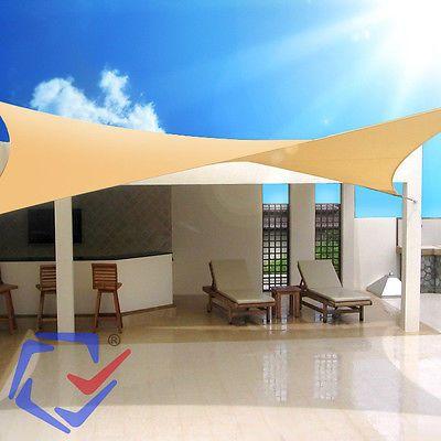 Triangle Square Shade Sail Sun Uv Protection Garden Canopy Patio Waterproof Shade Sail Sun Sail Shade Garden Canopy